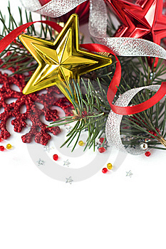 Bright Christmas Composition With Stars Stock Images - Image: 17264204