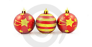 Hand Painted Christmas Baubles Stock Photography - Image: 17264572
