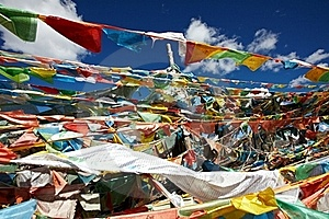 Ibetan Prayer Flags Royalty Free Stock Image - Image: 17264616