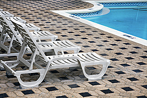 Deckchair By The Pool Royalty Free Stock Photography - Image: 17264807