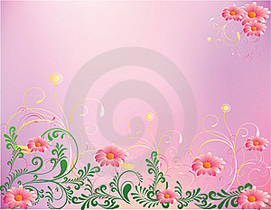 Abstract Flower Illustration Flower Spring Summer Royalty Free Stock Photos - Image: 17266918