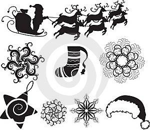 Set Of Christmas Icons Royalty Free Stock Image - Image: 17268816