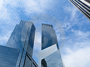 Glass Reflecting Skyscrapers Stock Photo - Image: 17269050