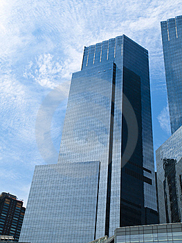 Glass Reflecting Skyscraper Royalty Free Stock Images - Image: 17269059