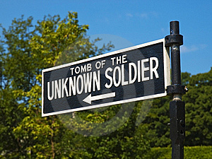 Unknown Soldier Tomb Sign Stock Image - Image: 17269341