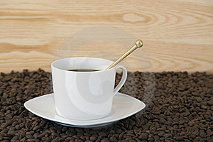Cup Of Coffee With Smoke Royalty Free Stock Photography - Image: 17276537