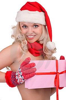 Beautiful Santa Girl Stock Image - Image: 17277061