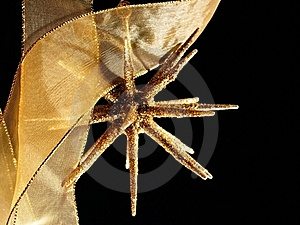 Sparkling Christmas Golden Star Stock Photography - Image: 17278392