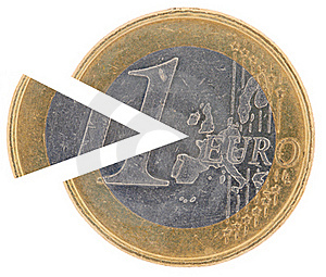 Coin 1€ With A Remoted Sector Stock Images - Image: 17280874