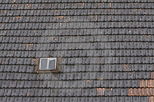 Window In Tiled Roof Stock Image - Image: 17283421