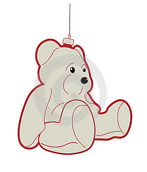 Teddy Bear Bauble Royalty Free Stock Photo - Image: 17287855