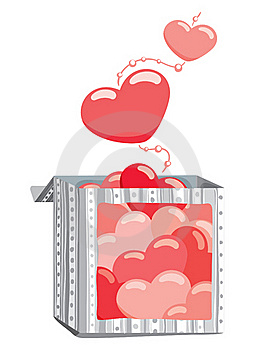Hearts From The Box Stock Image - Image: 17289221