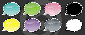 Cloud Speech Bubbles Royalty Free Stock Photography - Image: 17291127