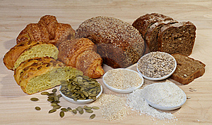 Variety Of Bread And Ingredients Royalty Free Stock Photography - Image: 17291427