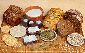 Bread, Pastry, Candies And Ingredients Royalty Free Stock Photography - Image: 17291477