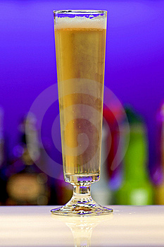 Glass Of Beer On Bar Stock Photos - Image: 17292013