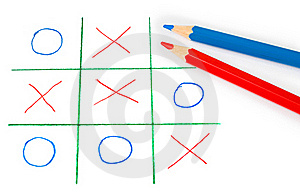 Noughts And Crosses Game Royalty Free Stock Photos - Image: 17292418