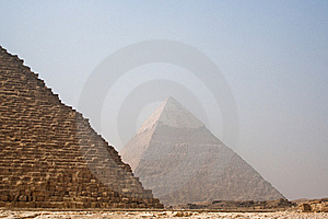 The Pyramids Of Cheops And Khafre Royalty Free Stock Photography - Image: 17292607