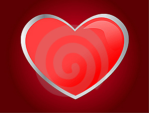 One Red Heart Stock Images - Image: 17295764