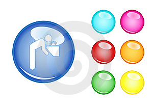 Orb Sign Man And Water Royalty Free Stock Photo - Image: 17295815