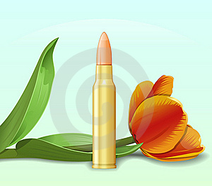 Bullet And Flower Stock Images - Image: 17296294