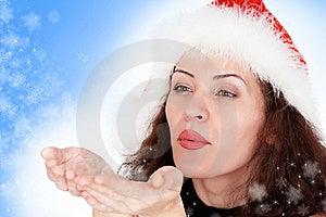 Christmas Girl With Snowflakes Royalty Free Stock Image - Image: 17297416