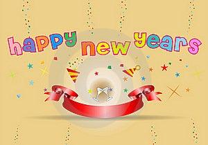 Happy New Year Illustration Stock Photography - Image: 17298302