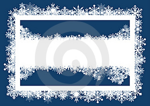 Christmas Card With Snowflakes Stock Photos - Image: 17298893