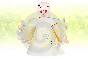 Cute Christmas Angel For Christmas Tree Stock Photo - Image: 17299680