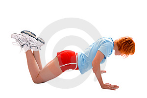 Pretty fitness girl Stock Photos