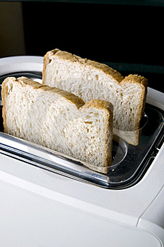 Wheat Bread On Toaster Royalty Free Stock Photo - Image: 17301245
