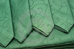 Green Tablecloth And Napkin Stock Photography - Image: 17301972