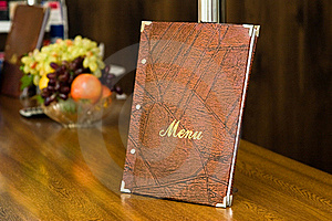 Menu In Restaurant Royalty Free Stock Photography - Image: 17301977