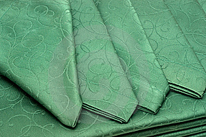 Green Tablecloth And Napkin Royalty Free Stock Photo - Image: 17302055