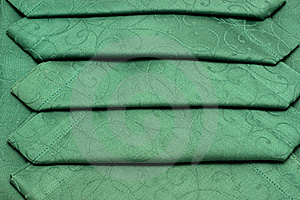 Green Tablecloth And Napkin Stock Images - Image: 17302104