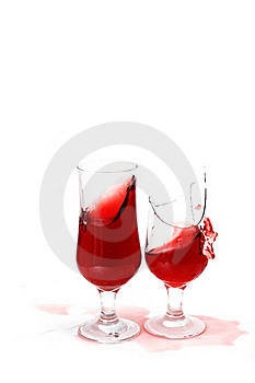 Two Glass With Wine Royalty Free Stock Photography - Image: 17302927