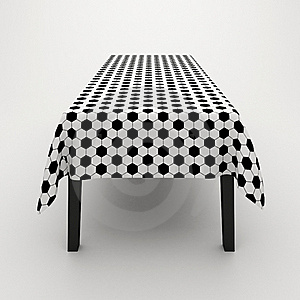 Table Covered With A Cloth Stock Photography - Image: 17303312