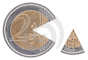 Coin 2€ With A Remoted Sector Royalty Free Stock Photo - Image: 17305035