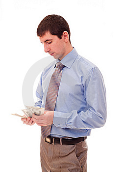 Man Counts The Money Stock Photos - Image: 17307233