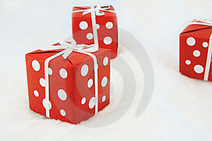 Red Wrapped Gift Royalty Free Stock Photo - Image: 17307595
