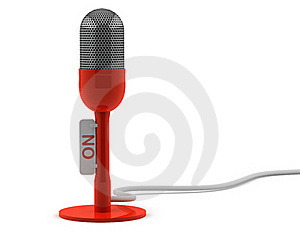 Red Retro Microphone Royalty Free Stock Photos - Image: 17310038