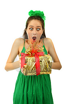 The Young Surprised Girl Portrait Royalty Free Stock Image - Image: 17310216