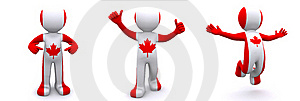 3d Character Textured With Flag Of Canada Royalty Free Stock Photography - Image: 17311837