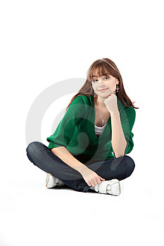 Woman With Cup Of Coffe Stock Image - Image: 17312081