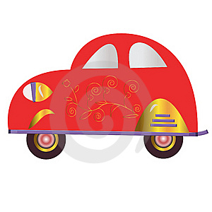 The Red Car Royalty Free Stock Photo - Image: 17312365