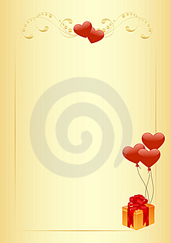 Letter Blank With Hearts Royalty Free Stock Photos - Image: 17313028