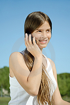 Girl Speaking On The Mobile Royalty Free Stock Photography - Image: 17315547
