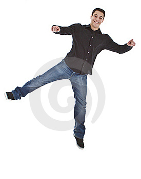 Young Fresh Happy Man Jumping Stock Images - Image: 17315784