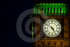Big Ben (St Stephen's Tower) By Night Stock Photo - Image: 17318230