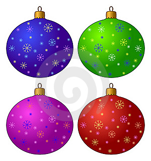 Christmas-tree Decorations, Set Royalty Free Stock Photos - Image: 17320318